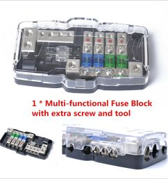 details about car audio stereo anl fuse holder distribution 0 4ga 4 way fuses box block 30a [ 1000 x 1000 Pixel ]