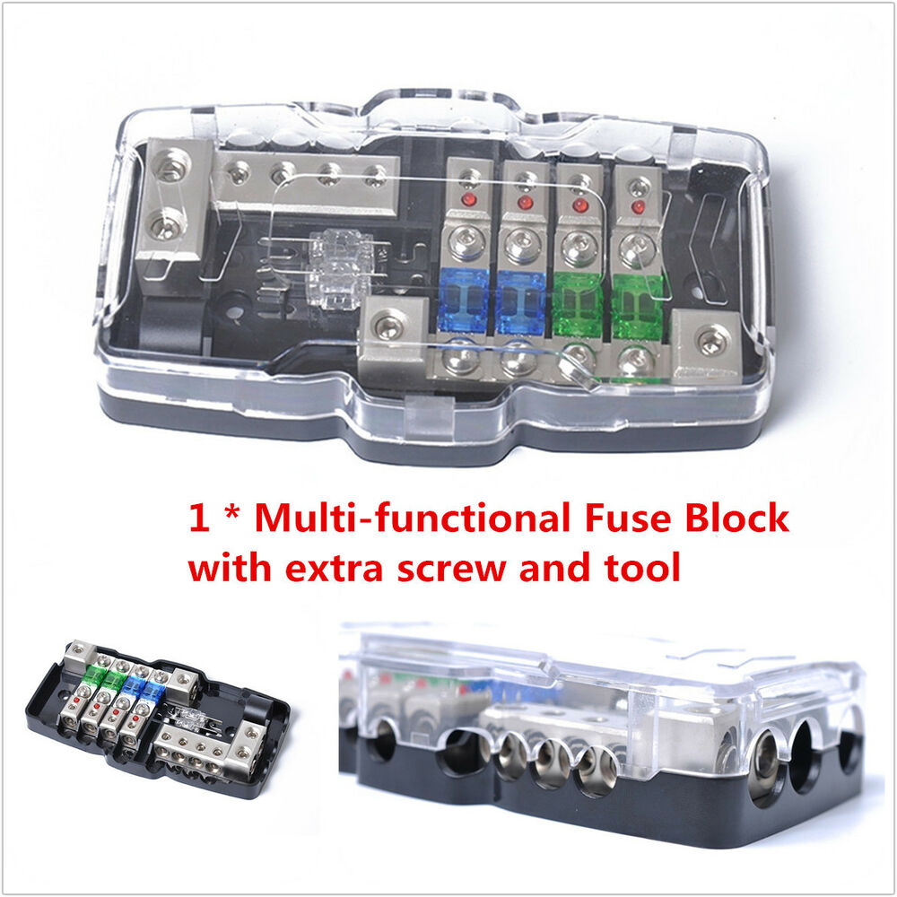 medium resolution of details about car audio stereo anl fuse holder distribution 0 4ga 4 way fuses box block 30a
