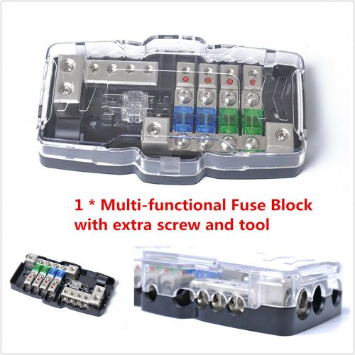 small resolution of details about car audio stereo anl fuse holder distribution 0 4ga 4 way fuses box block 30a