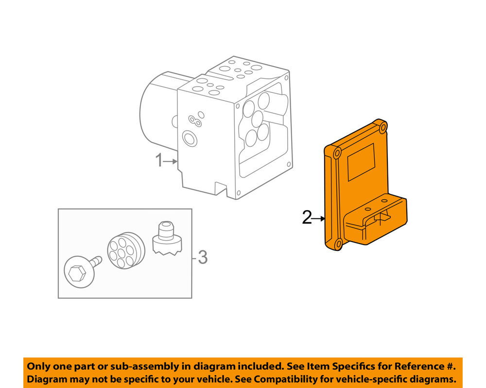 hight resolution of details about cadillac gm oem 08 09 cts anti lock brakes control module 25853512