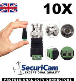 details about 10 x bnc plug to screw terminal cctv camera video cat5 connector adapter baluns [ 1000 x 1000 Pixel ]