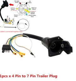 details about 4 flat to 7 way rv trailer light plug wire harness converter adapter for truck [ 1000 x 1000 Pixel ]