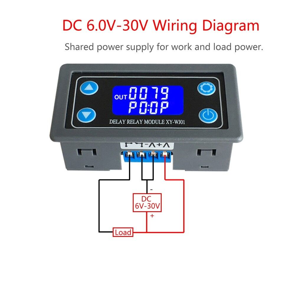 hight resolution of time delay relay module digital lcd display 6v 30v control timer switch trigger ebay