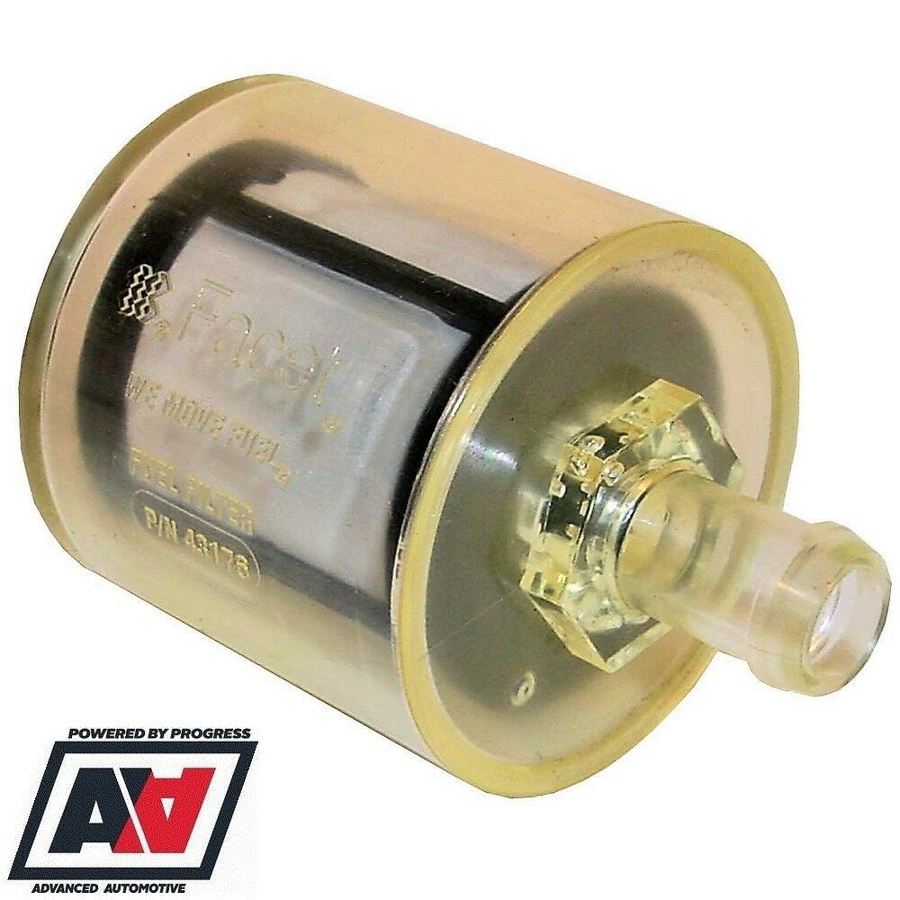hight resolution of details about facet fuel filter for cube posiflow fuel pumps 12mm 1 2 hose tail adv