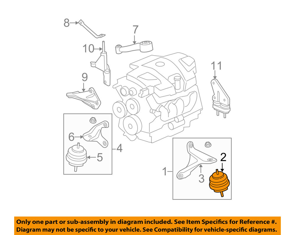 medium resolution of details about buick gm oem 06 08 lucerne engine motor mount torque strut 15910501