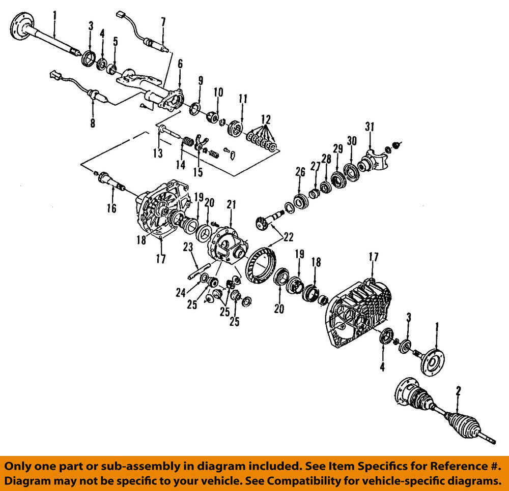 hight resolution of details about gm oem front differential pinion yoke companion flange 88967027