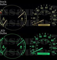 details about new dash cluster gauge green led lights kit fit 98 02 toyota corolla chevy prizm [ 1000 x 1000 Pixel ]