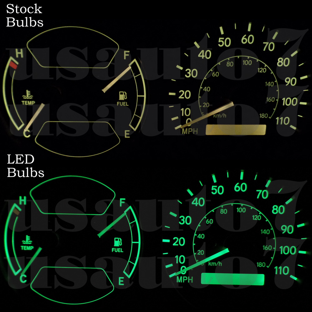 hight resolution of details about new dash cluster gauge green led lights kit fit 98 02 toyota corolla chevy prizm