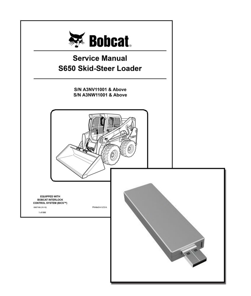 medium resolution of bobcat s650 skid steer workshop service manual usb stick download ebay