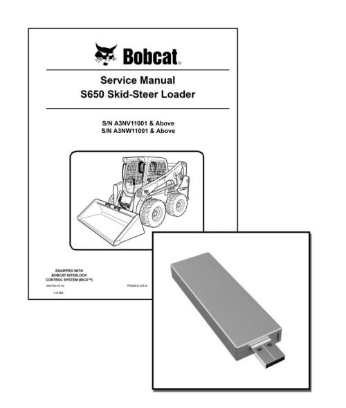 small resolution of bobcat s650 skid steer workshop service manual usb stick download ebay