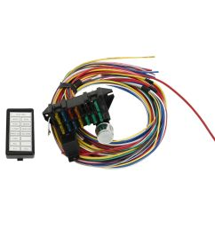 new 12 circuit universal wiring harness muscle car hot rod street [ 1000 x 1000 Pixel ]