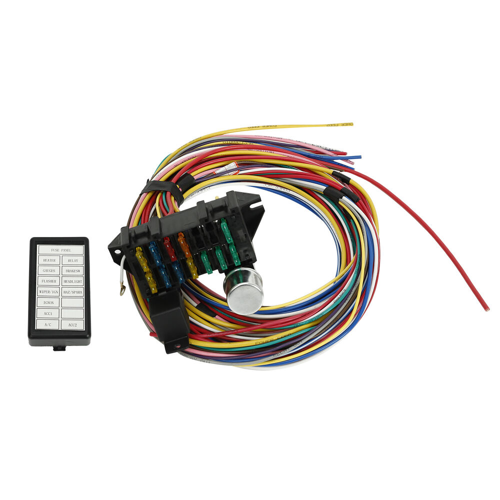 hight resolution of new 12 circuit universal wiring harness muscle car hot rod street