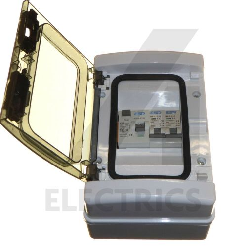 small resolution of details about consumer unit 2 way garage unit fuse box 63 amp rcd trip 6a 32a mcb 63a ip65
