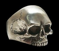 925 Sterling Silver Keith Richards Skull Ring