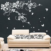 Large Vine Flower Butterfly Wall stickers / Wall decal | eBay