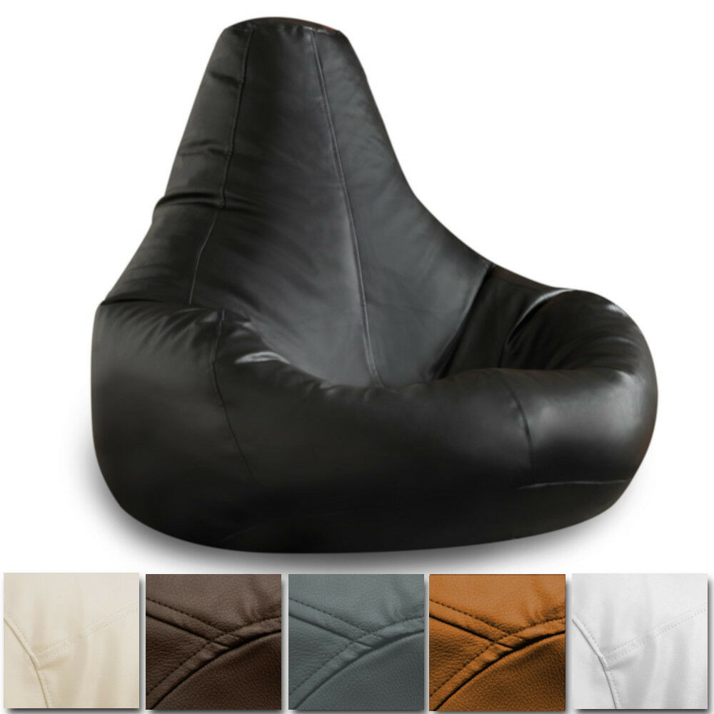 BEANBAG GAMER Chair ADULT GAMING Bean Bag Faux Leather