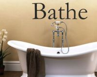 Bathe Wall Art Sticker for Bathroom Text Quotes Wall
