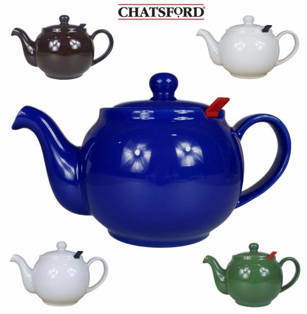 Chatsford Ceramic Teapot 2 4 6 10 Cup In Blue Green