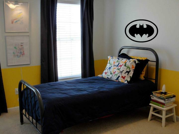 BATMAN Wall Decal Decor Vinyl Boys Kids Garage Room EBay