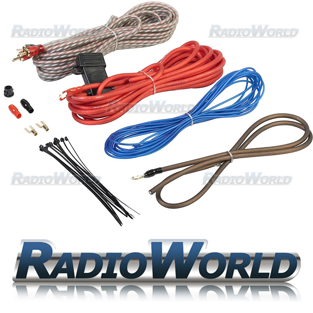 hight resolution of edge amplifier wiring kit 10 awg for car audio speakers subwoofer amp ebay