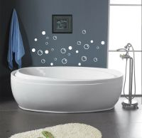 38 Soap Bubbles for bathroom removable vinyl wall decals ...