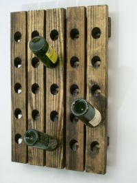 Riddling Wood Wine Rack Handcrafted Wall Hanging | eBay