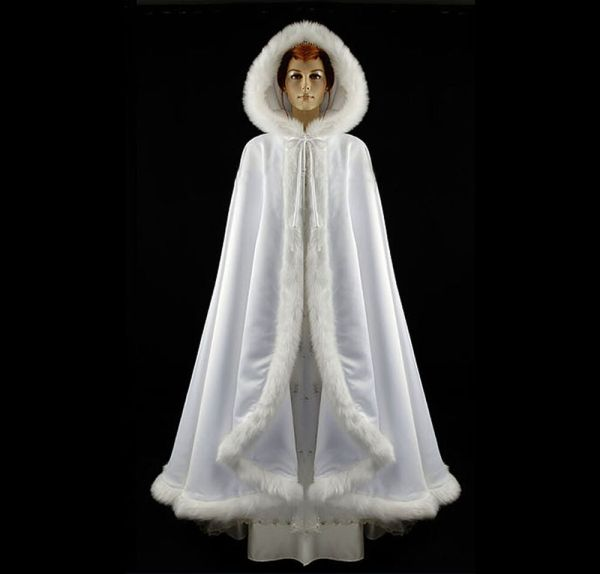 White Wedding Bridal Pageant Christmas Holiday Cape