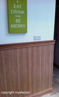 Wall Panels - Interior Oak Tongue and Groove Effect Panels ...