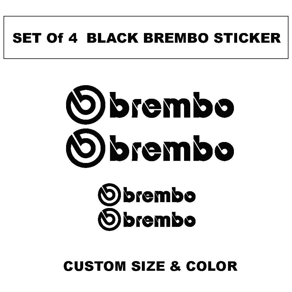 Brembo Logo Decal sticker vinyl caliper brake custom size