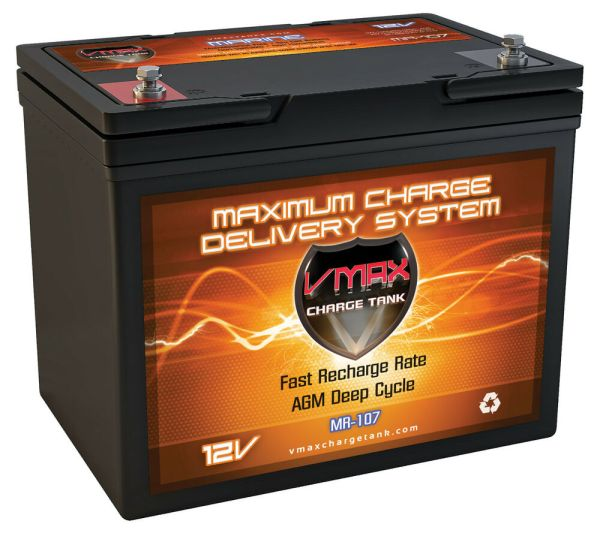 Water Sports Marine Battery Agm Mr107 Deep Cycle 12v