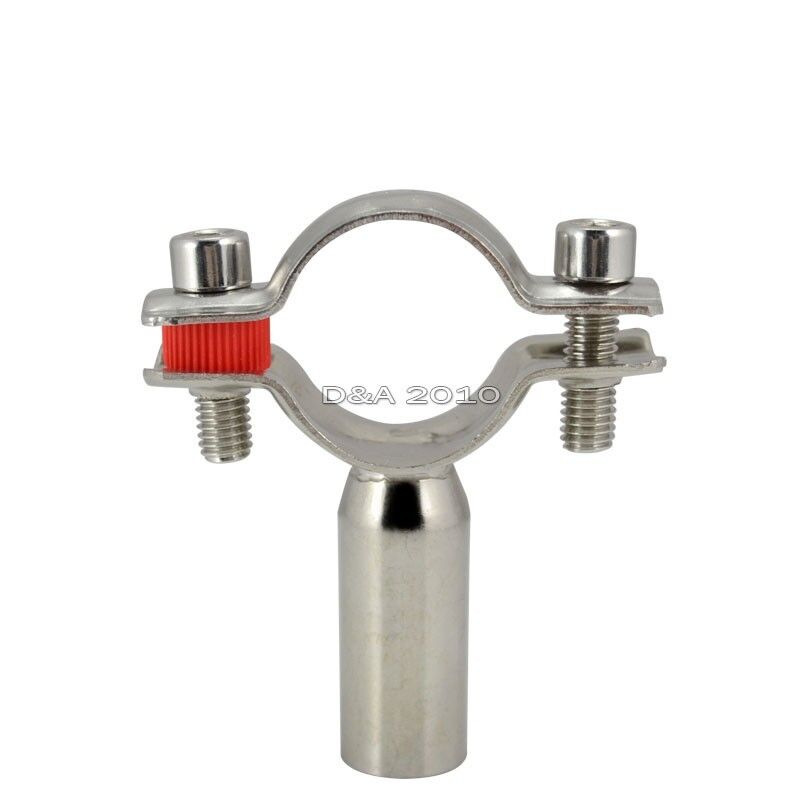 32 OD 32mm Sanitary Bracket Pipe Fitting Ajustable Clamp