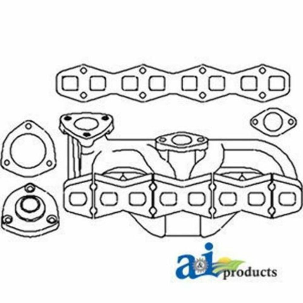 1046679M1 Exhaust Manifold Fits Massey Ferguson TE20 TO20