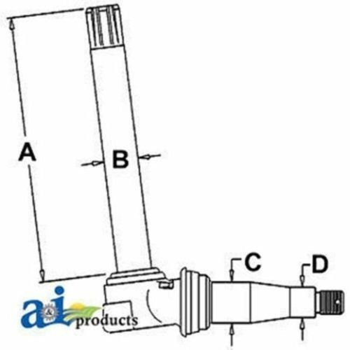 small resolution of details about al38381 spindle rh lh fit john deere 6410l 6410s 1750 1850 1950 2150 2155 2350