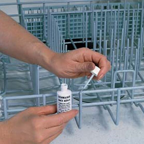 Dishwasher Rack Repair Paint, Brush And Let Dry For