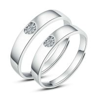 His and Hers Rings Couples Promise Rings Adjustable Open ...