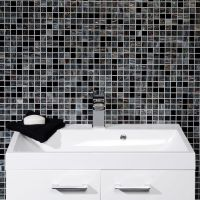 Black Mosaic Tiles Bathroom With Amazing Photo | eyagci.com
