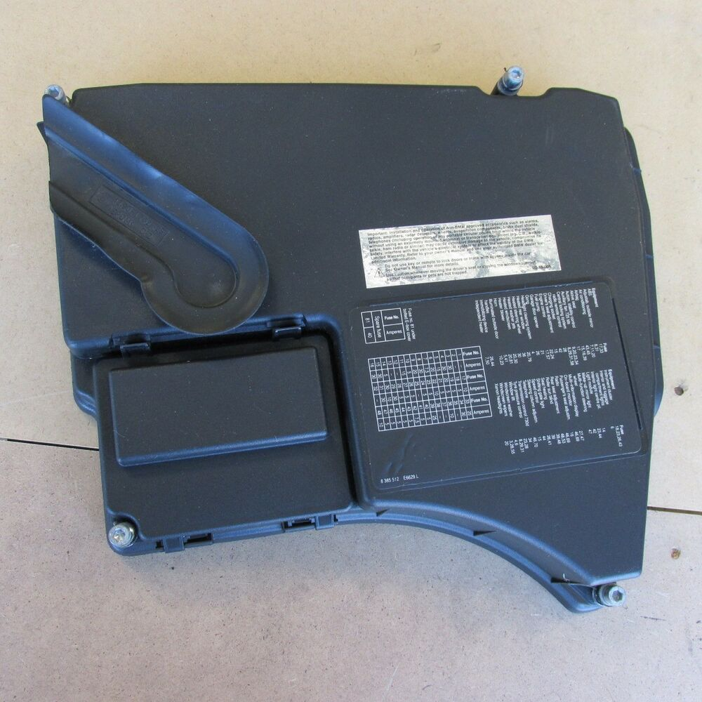 hight resolution of bmw e38 740i 740il engine compartment fuse box relay cover fusebox 12901747665 ebay