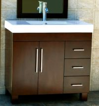 """36"""" Bathroom Vanity Cabinet Ceramic Top with Integrated ..."""