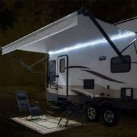 RecPro RV 12' WHITE LED Awning Party Light w/Mounting