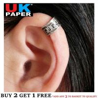 SILVER PLATED AZTEC CARTILAGE UPPER HELIX EAR CUFF CLIP-ON ...
