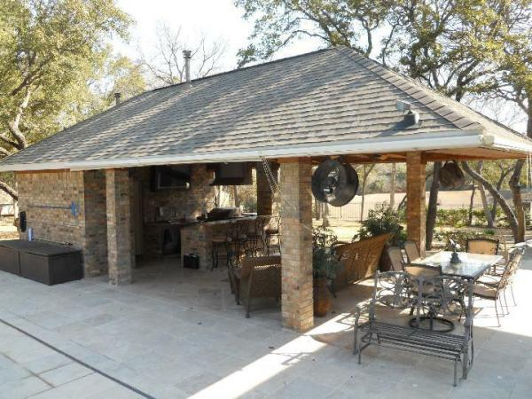 pool house with outdoor kitchen Outdoor BBQ Kitchen Bar / Cabana / Pool House / Bathroom / Plans, 16'w x 30'd | eBay