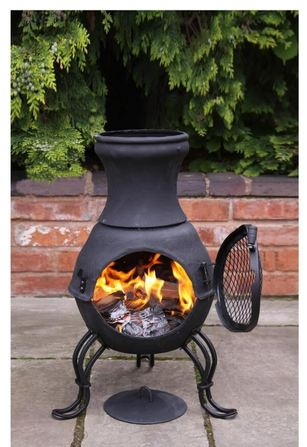 Cast Iron Chimenea Chiminea Garden Heater Wood Burning Stove Patio Heater  eBay
