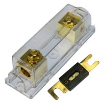150 AMP ANL Fuse Gold inline Holder Voodoo Car Audio 1/0 ...