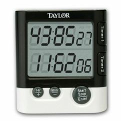 Loud Kitchen Timer White Island With Seating Taylor 5828 Dual Event Digital And Clock | Ebay