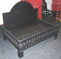 LARGE Cast Iron Dog Grate Fireplace Fire Grate Fire Basket ...