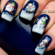 christmas nail wraps water transfers
