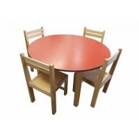 kids beech wood round table stacking chairs classroom pre ...