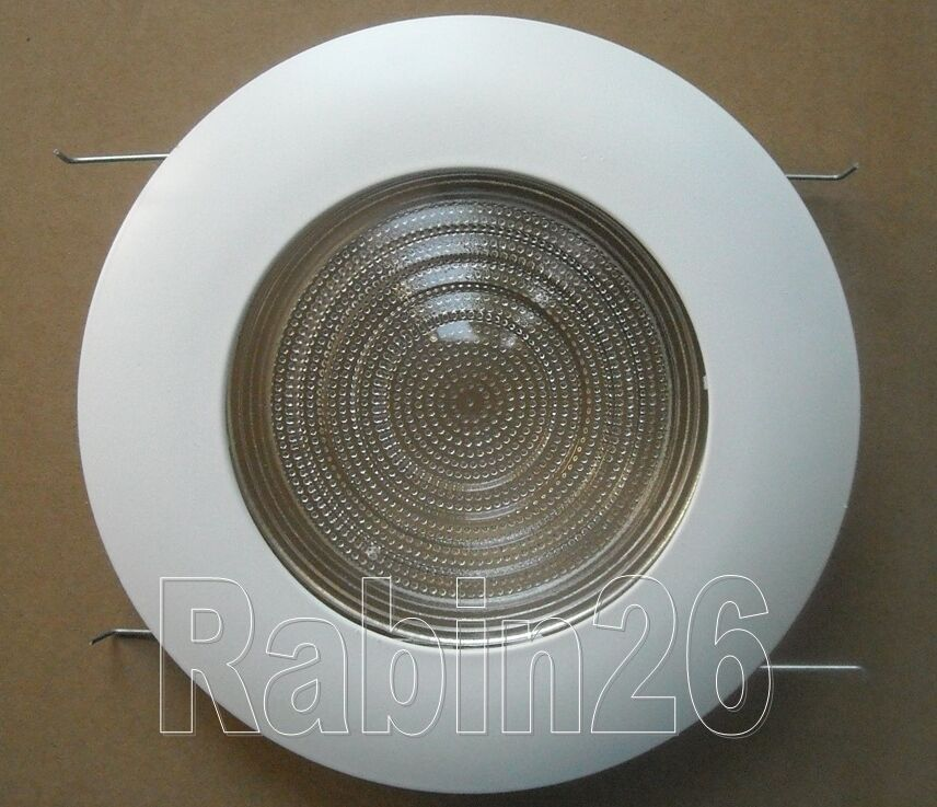 """5"""" INCH RECESSED CAN LIGHT METAL SHOWER TRIM CLEAR LENS"""