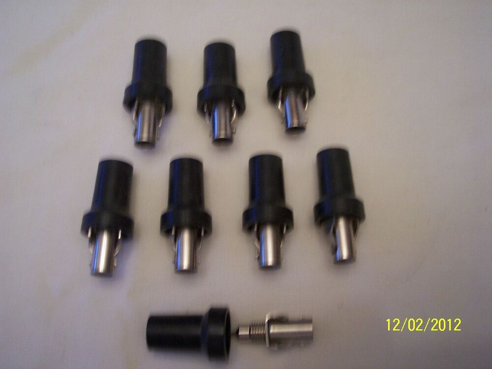 8 RAJAH SPARK PLUG WIRE ENDS STRAIGHT 7 MM WIRES RAT ROD