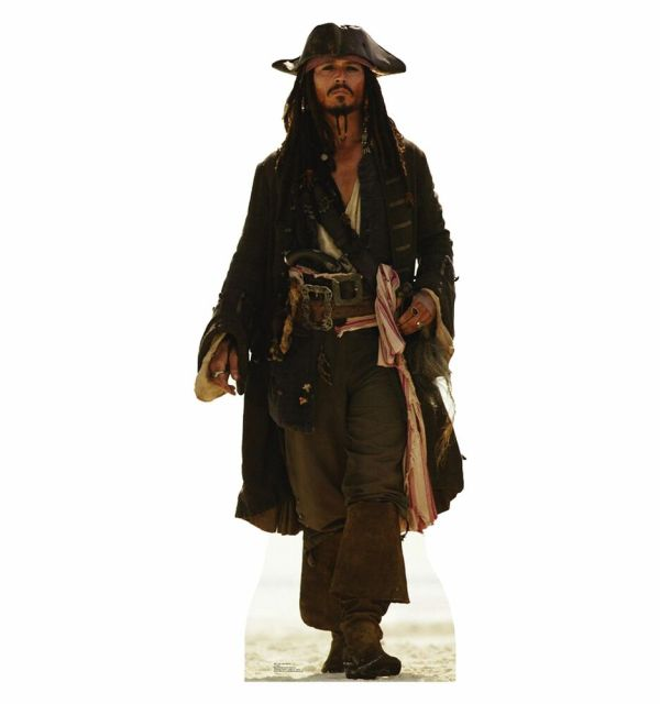Captain Jack Sparrow Cardboard Cutout